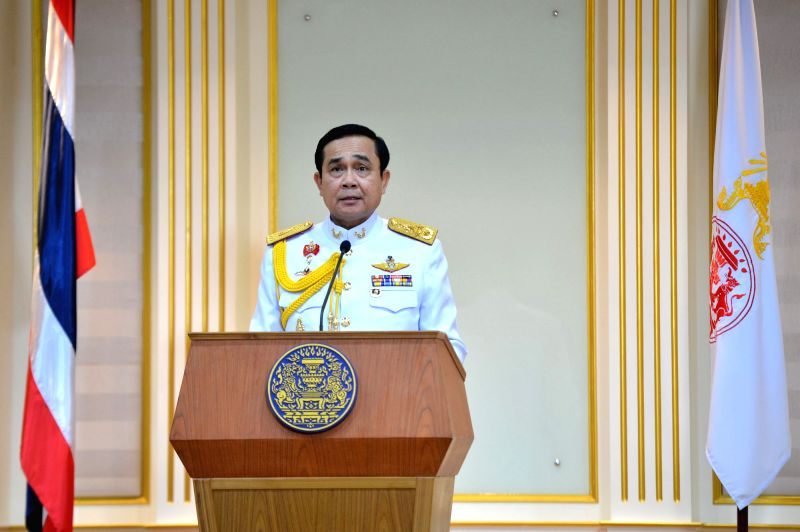 Thai junta chief Prayuth Chan-ocha speaks after receiving a royal command formally appointing him the 29th prime minister of the country, on Aug. 25, 2014.  Prayuth