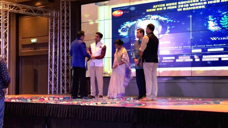 :Bangkok: Jagadguru Kripalu Parishat (JKP), which works to educate underprivileged girls in Uttar Pradesh Pratapgarh district, has been honoured with the 'World Icon Award 2018 in Bangkok, ...
