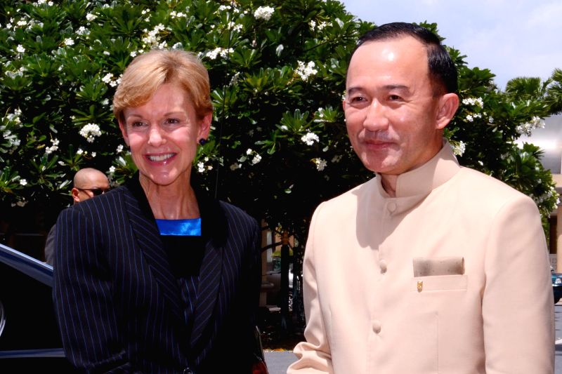 Acting permanent secretary of Thai prime minister's office Panadda Diskul (R) meets with the U.S. Ambassador to Thailand Kristie Kenney at Government House in ...