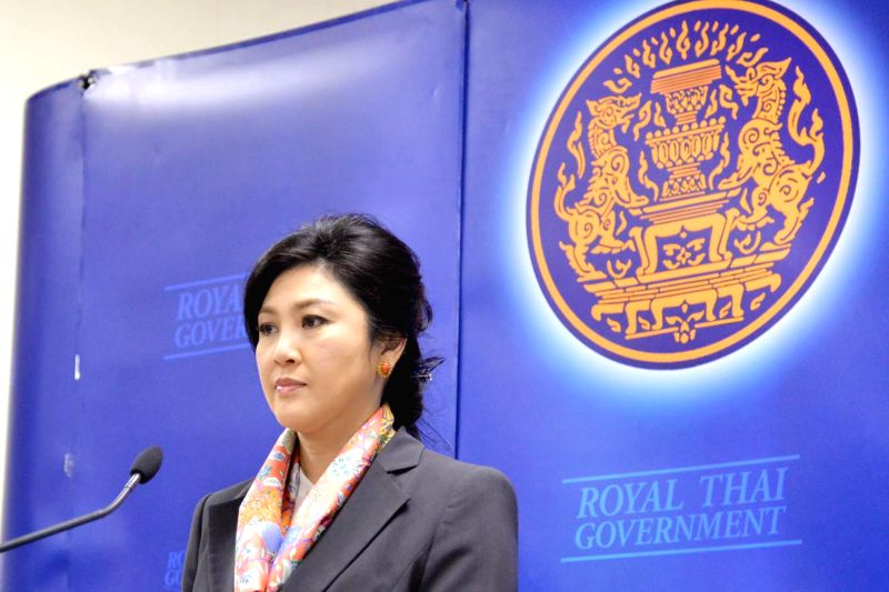 Thai caretaker Prime Minister Yingluck Shinawatra speaks during a press conference in Bangkok, Thailand, May 7, 2014. Thailand's Constitutional Court on Wednesday ...