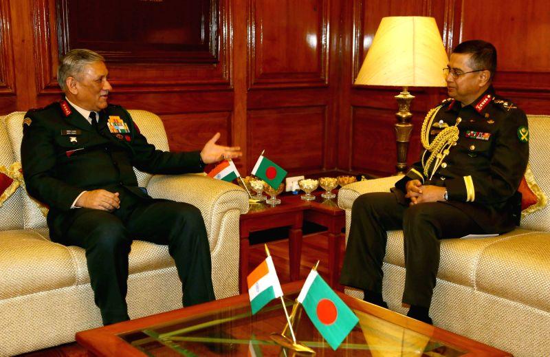 Bangladesh Army Chief meets General Bipin Rawat