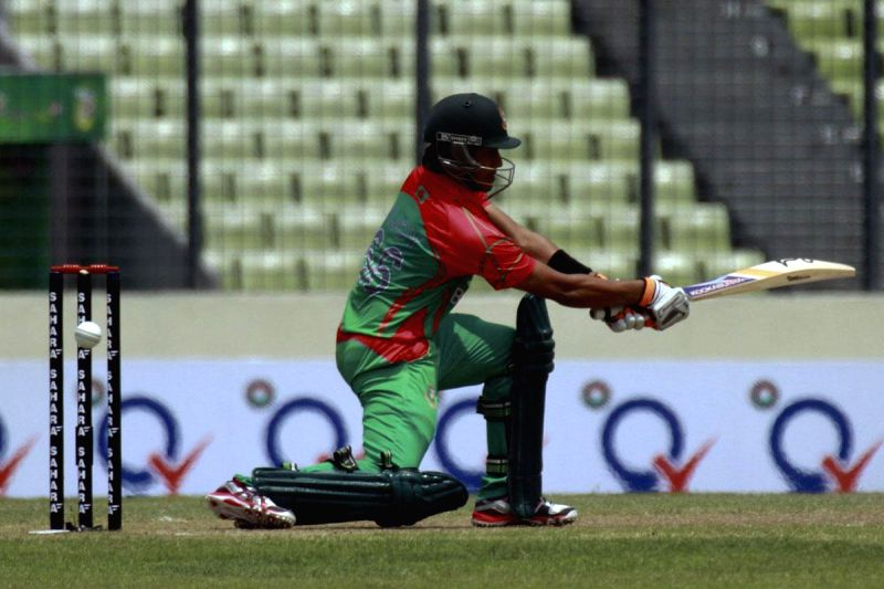 Bangladesh batsman Anamul Haque in action during the 1st ODI between India v/s Bangladesh at Shere Bangla National Stadium in Mirpur, Bangladesh on June 15, 2014. - Anamul Haque