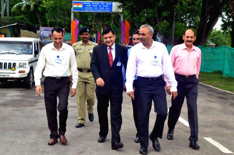 Bangladesh Border Guard delegation led by Additional Director General (ADG) Md Habibul Karim arrive for regional commander level talk with BSF in Agartala on July 24, 2016.
