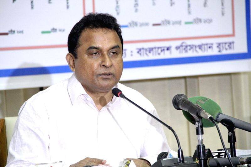 Bangladesh Planning Minister AHM Mustafa Kamal speaks about recent inflation data at NEC auditorium in Dhaka, Bangladesh on Sept 4, 2014.