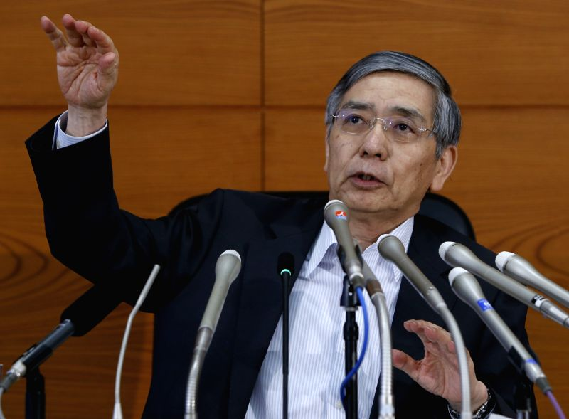 Bank of Japan (BOJ) Governor Haruhiko Kuroda speaks during a press conference at the BOJ headquarters in Tokyo, Japan, July 15, 2015.