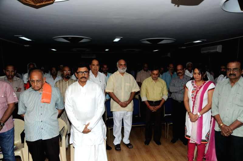 Bapu condolence meet held at Jubelee Hills, Film Chamber Hall on 3, Sept. 2014.