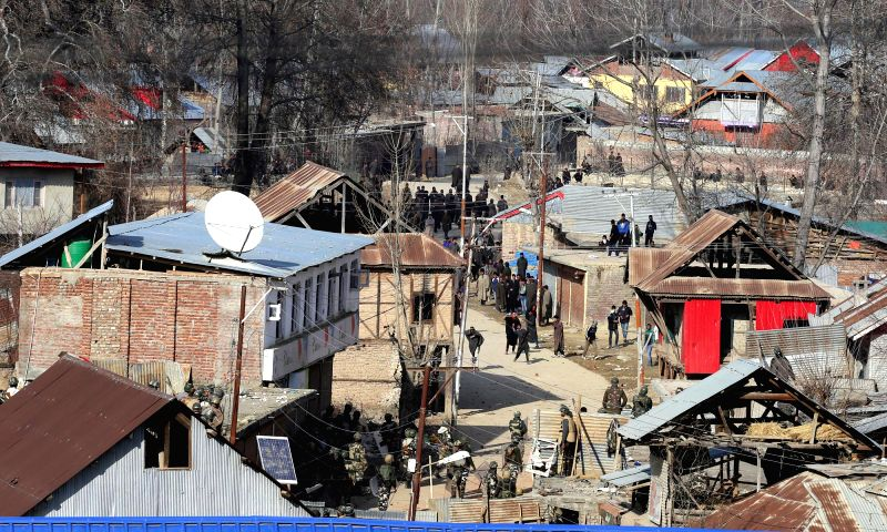 People continue to clash with the security personnel deployed in Palhallan area of Baramulla district on the fourth day following the death of a youth in a firing by the security personnel