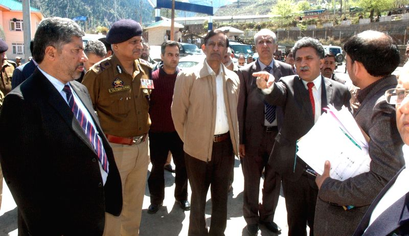 Union Home Secretary Union Home Secretary L C Goyal during his visit to the Trade Facilitation Centre (TFC) Salamabad, Uri in Baramulla on April 10, 2015.