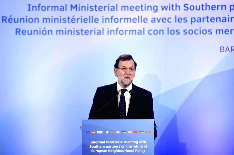 Photo provided by Spanish Presidency shows Spanish Prime Minister Mariano Rajoy speaking during the Informal Ministerial Meeting on the future of European ... - Mariano Rajoy