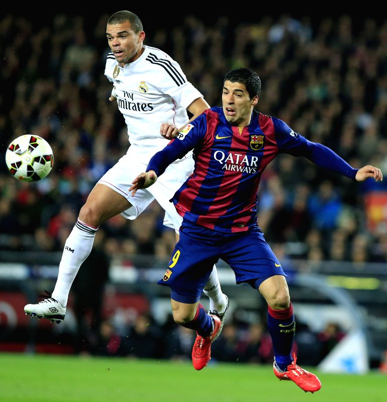 Barcelona player Neymar in action during the La Liga match between FC Barcelona and Real Madrid C.F. at Camp Nou in Barcelona Spain on March 22, 2015.