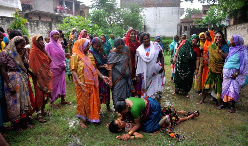 Battle of women`s in Lucknow on August 2, 2014.