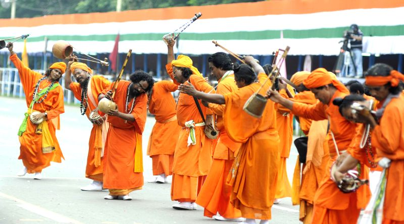 Baul performance during 68th Independence Day celebrations in Kolkata on Aug 15, 2014.