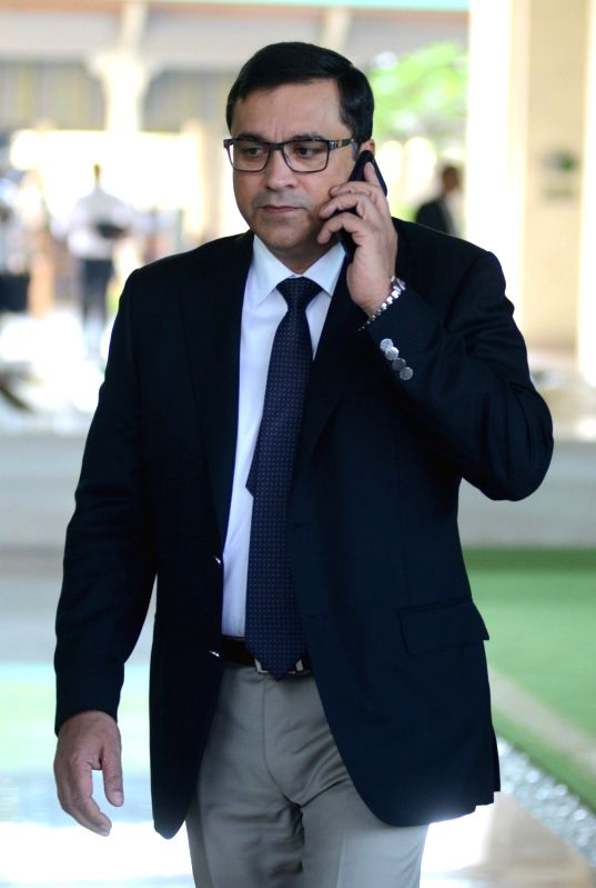 BCCI CEO Rahul Johri arrives to attend Indian Premier League (IPL) Players' Auction in Bengaluru on Jan 28, 2018.