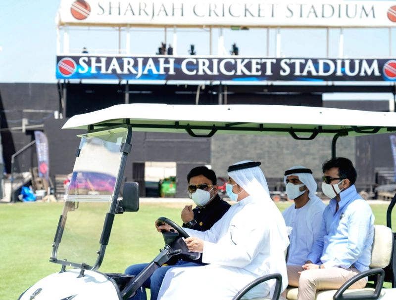 BCCI secy Jay Shah 'satisfied' with facilities at Sharjah Stadium.