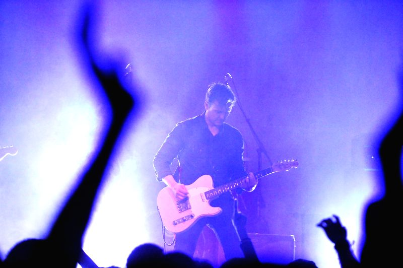 """Danish post-rock band """"The Seven Mile Journey"""" performs at a solo concert in Beijing, capital of China, April 11, 2015."""