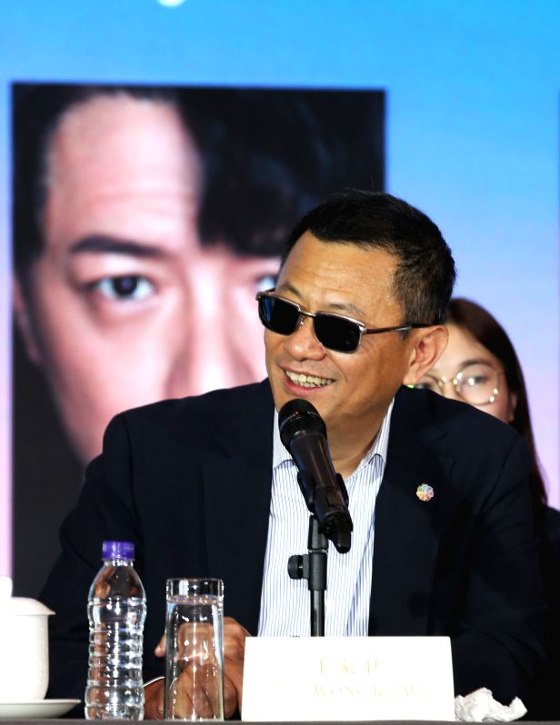 BEIJING, April 13, 2018 - Chairman of the jury Karwai Wong attends a press conference of international jury of the Tiantan Award of the eighth Beijing International Film Festival (BJIFF) in Beijing, ...