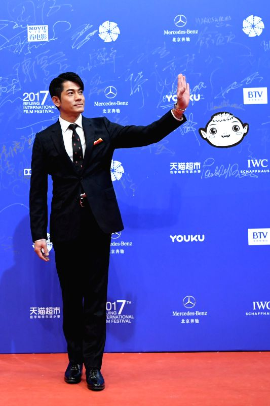 BEIJING, April 17, 2017 - Actor Aaron Kwok poses on the red carpet during the opening ceremony of the 7th Beijing International Film Festival (BJIFF) in Beijing, capital of China, April 16, 2017. - Aaron Kwok
