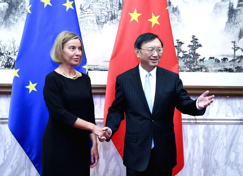 BEIJING, April 19, 2017 - Chinese State Councilor Yang Jiechi co-chairs the seventh China-EU high-level strategic dialogue with EU high representative for foreign affairs and vice president of the ...
