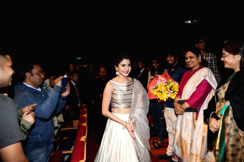 "Actress Anushka Sharma attends the premiere ceremony of the film ""NH10"" for the competition section at the fifth Beijing International Film Festival ... - Anushka Sharma"