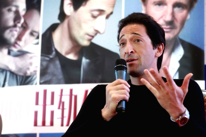 """Actor Adrien Brody speaks during a press conference for """"Third Person"""" at the 4th Beijing International Film Festival in Beijing, capital of China, April - Adrien Brody"""