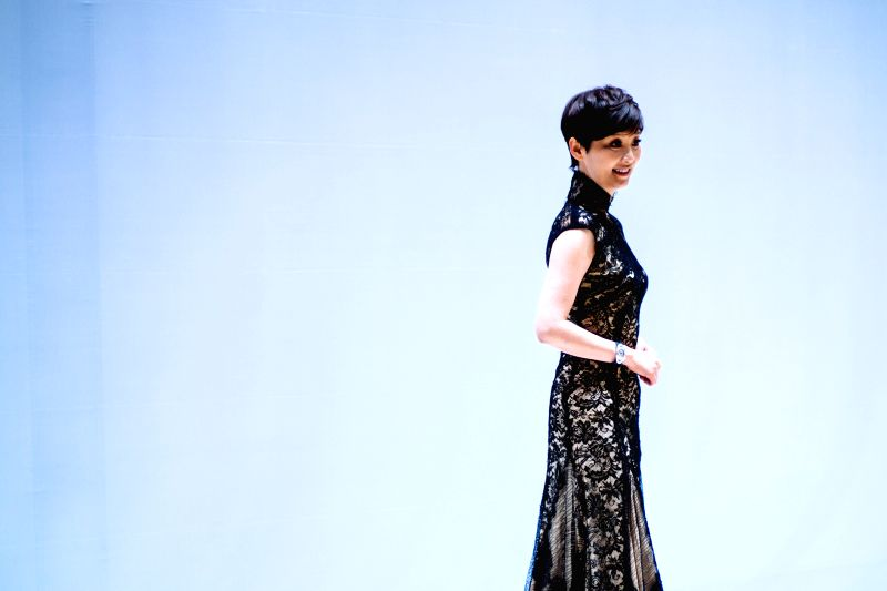 Actress Xu Fan attends the closing ceremony of the fifth Beijing International Film Festival (BJIFF) in Beijing, capital of China, April 23, 2015. The BJIFF closed ... - X