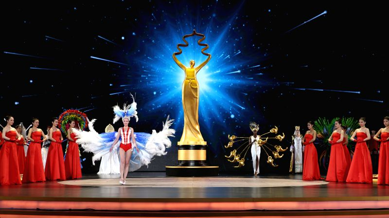 The closing ceremony of the fifth Beijing International Film Festival (BJIFF) is held in Beijing, capital of China, April 23, 2015. The BJIFF closed here on ...