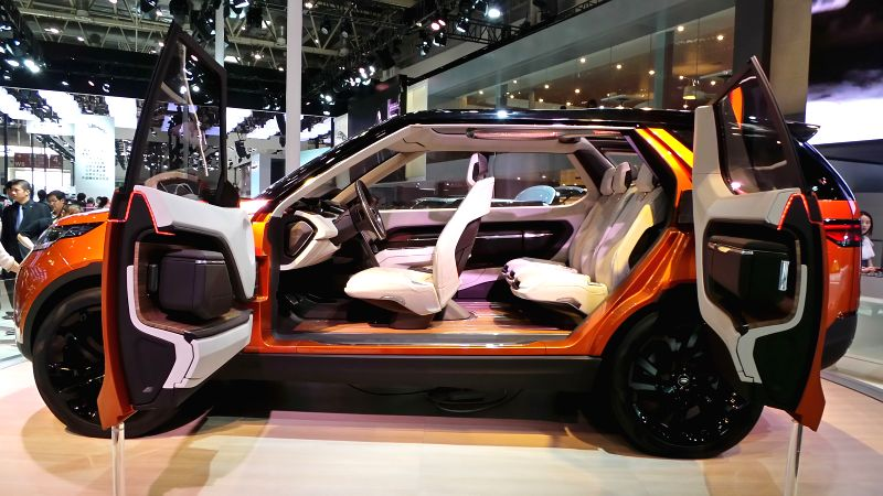 A Landrover SUV concept vehicle is displayed during the ongoing Beijing International Automotive Exhibition in Beijing, capital of China, April 25, 2014. ...