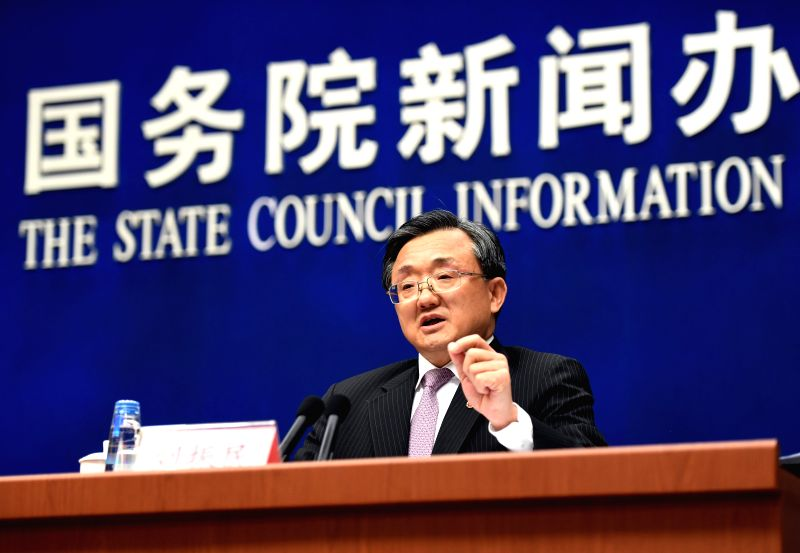 "BEIJING, Jan. 11, 2017 - Chinese Vice Foreign Minister Liu Zhenmin answers questions at a briefing on the white paper, ""China's Policies on Asia-Pacific Security Cooperation,"" in Beijing, ... - Liu Zhenmin"
