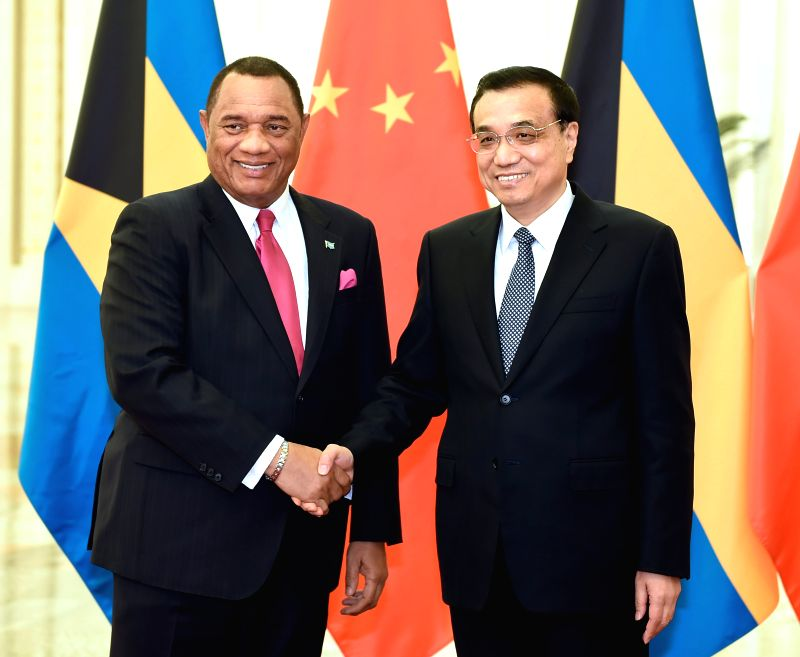 Chinese Premier Li Keqiang (R) meets with Bahamian Prime Minister Perry Christie, who is here to attend the First Ministerial Meeting of the Forum of China and the .. - Perry Christie