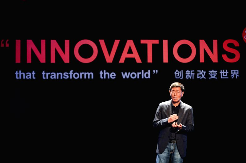 "BEIJING, July 22, 2016 - Liu De, co-founder and vice president of Xiaomi Corporation, a Chinese smartphone maker, makes a speech on a forum themed on ""Innovations that transform the world"" ..."