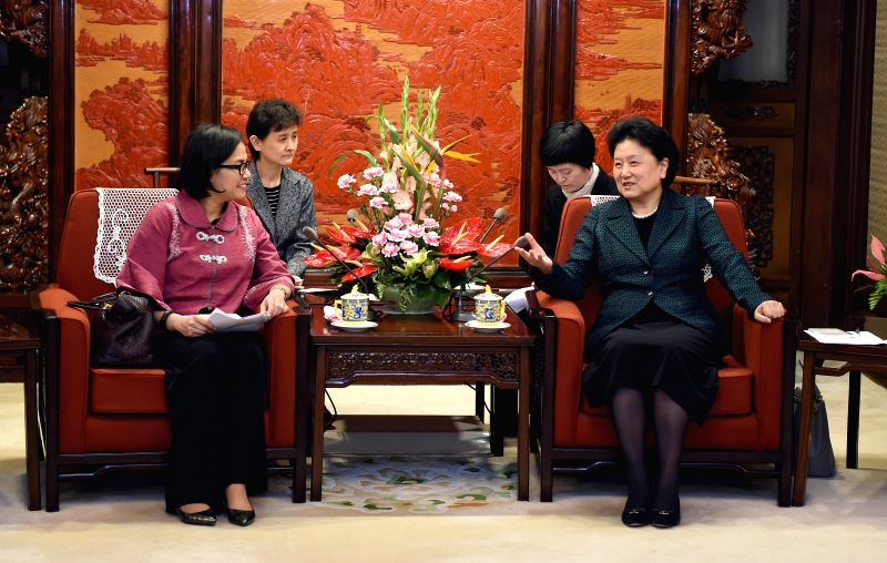 Chinese Vice Premier Liu Yandong (R) meets with World Bank Managing Director and Chief Operating Officer Sri Mulyani Indrawati in Beijing, capital of China, March ...