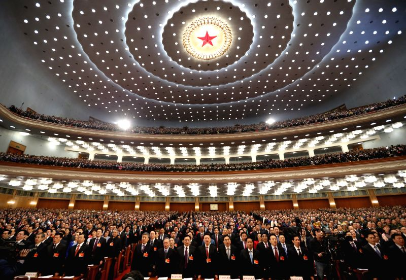 The third session of China's 12th National People's Congress (NPC) opens at the Great Hall of the People in Beijing, capital of China, March 5, 2015. (Xinhua/Lan ...
