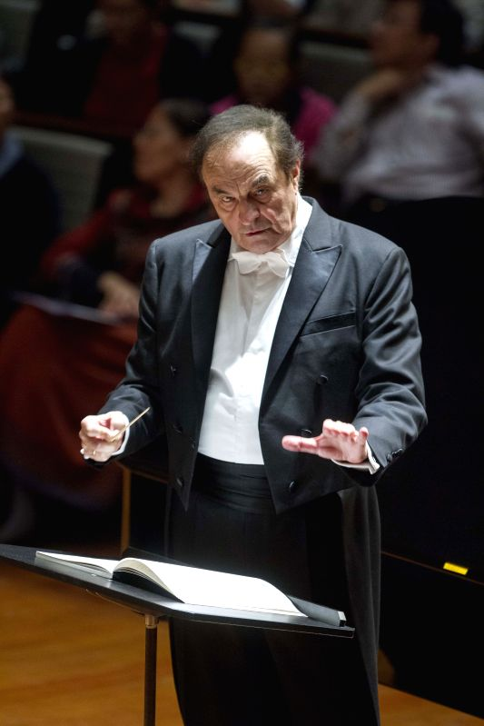 Swiss conductor Charles Dutoit leads the Boston Symphony Orchestra (BSO) to perform at the National Center for the Performing Arts (NCPA) in Beijing, capital of ...