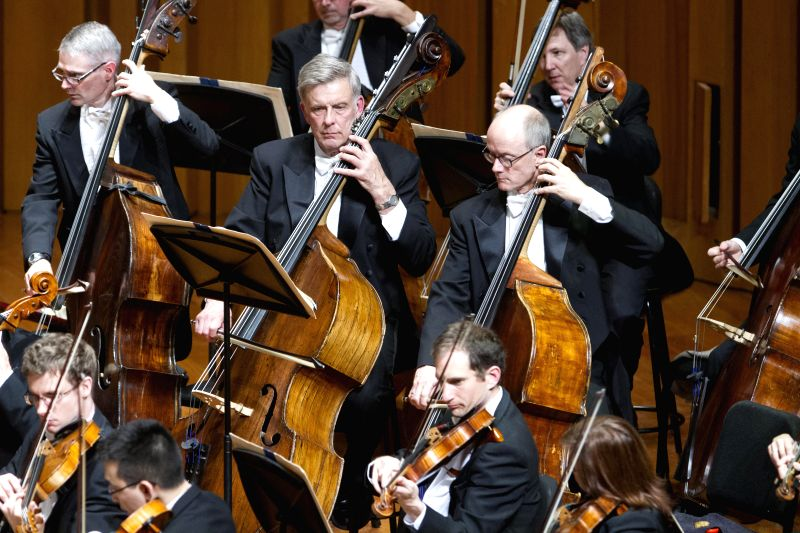The Boston Symphony Orchestra (BSO) performs at the National Center for the Performing Arts (NCPA) in Beijing, capital of China, May 1, 2014. The Boston Symphony ...