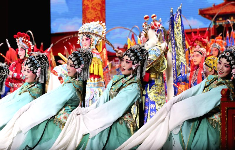 BEIJING, May 14,2017 - Performers attend the Millennial Road, a performance for the Belt and Road Forum for International Cooperation, at the National Center for the Performing Arts in Beijing, ...