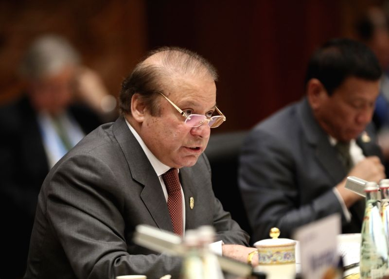 BEIJING, May 15, 2017 - Pakistani Prime Minister Nawaz Sharif speaks at the ers' Roundtable Summit of the Belt and Road Forum (BRF) for International Cooperation at Yanqi Lake International ... - Nawaz Sharif