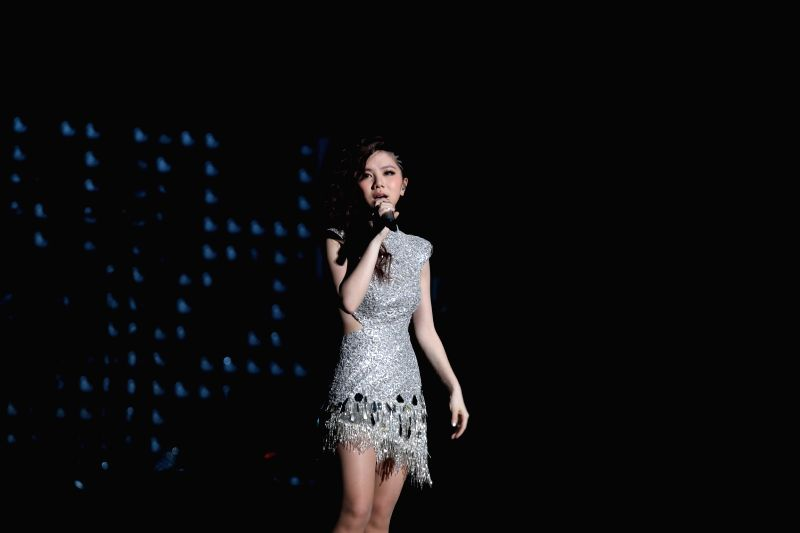 Singer G.E.M performs at her solo concert in Beijing, capital of China, May 16, 2014.