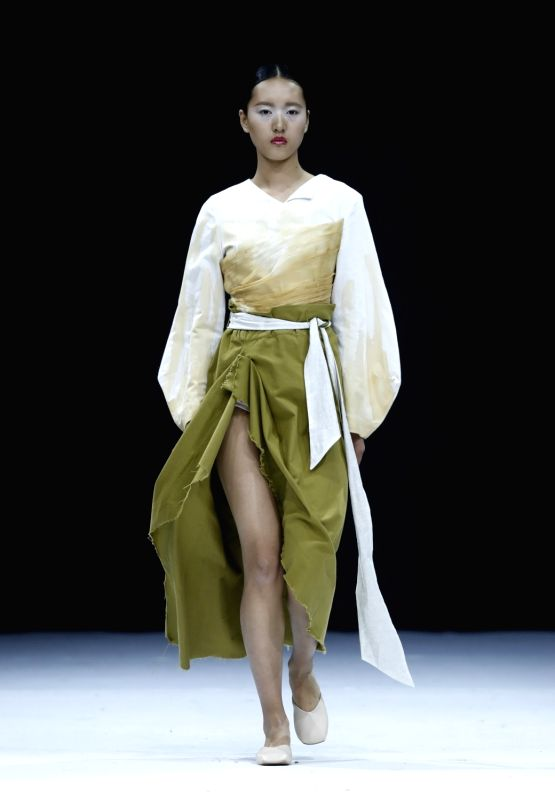 BEIJING, May 17, 2017 - Models present fashion creations designed by students of Chongqing University of Education during China Graduate Fashion Week in Beijing, capital of China, May 17, 2017.