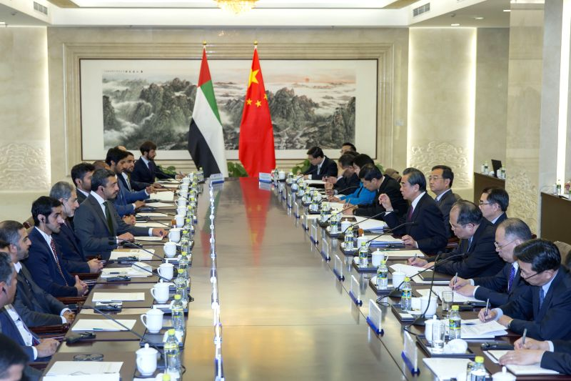 BEIJING, May 2, 2017 - Chinese Foreign Minister Wang Yi and United Arab Emirates (UAE)'s Minister of Foreign Affairs and International Cooperation Sheikh Abdullah Bin Zayed Al Nahyan co-chair the ... - Wang Y