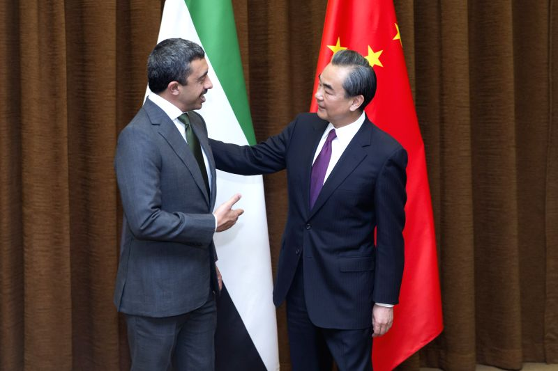 BEIJING, May 2, 2017 - Chinese Foreign Minister Wang Yi (R) and United Arab Emirates (UAE)'s Minister of Foreign Affairs and International Cooperation Sheikh Abdullah Bin Zayed Al Nahyan co-chair the ... - Wang Y