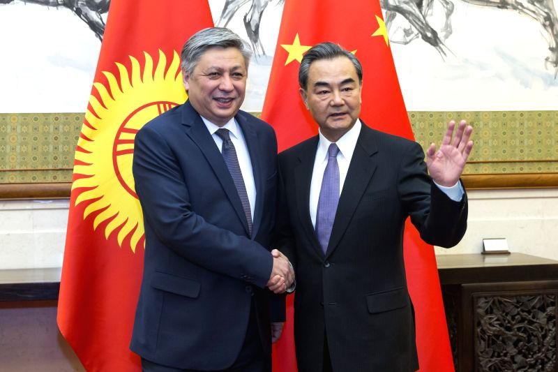 BEIJING, May 5, 2017 - Chinese Foreign Minister Wang Yi (R) holds talks with his Kyrgyz counterpart Erlan Abdyldaev in Beijing, capital of China, May 5, 2017. (Xinhua/Cui Xinyu) - Wang Y