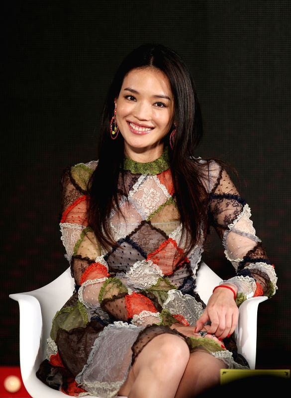 """Actress Shu Qi attends the press conference of the movie """"Gone with the Bullets"""" in Beijing, capital of China, Sept. 1, 2014. The movie, directed by ... - Shu Q"""