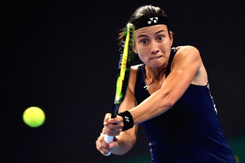 BEIJING, Sept. 30, 2017 - Anastasija Sevastova of Latvia returns a shot during the women's singles first round match against Maria Sharapova of Russia at 2017 China Open in Bejing, capital of China, ...