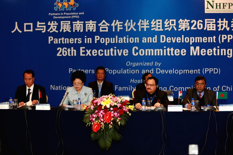 Union Health and Family Welfare Minister J P Nadda at the Opening Ceremony of the 26th Executive Committee Meeting of Partners in Population and Development (PPD), in Beijing, China on March ... - J P Nadda