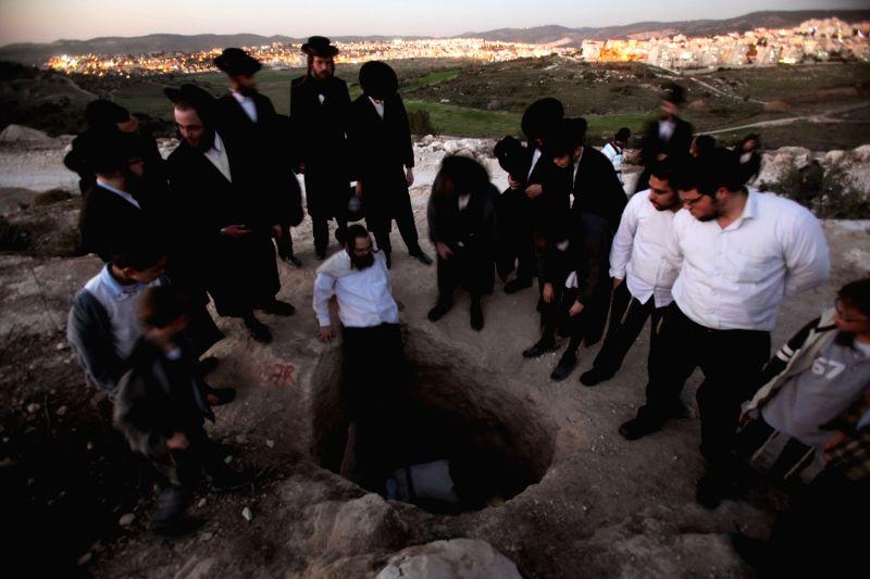 Orthodox Beit Shemesh: (130214) Ultra-Orthodox Jewish Men Take Part In A Protest