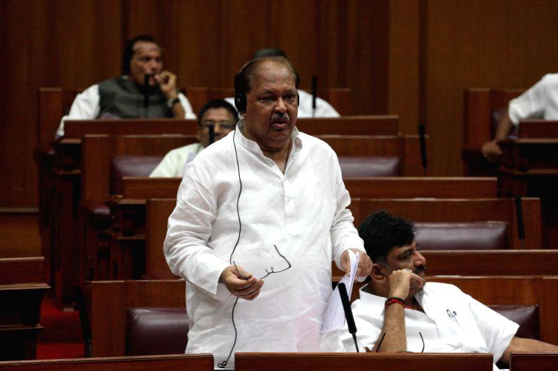 Karnataka Minister Qamar ul Islam addresses during the winter session of Karnataka assembly at Suvarna Soudha, in Belagavi on Dec 16, 2014. - Qamar