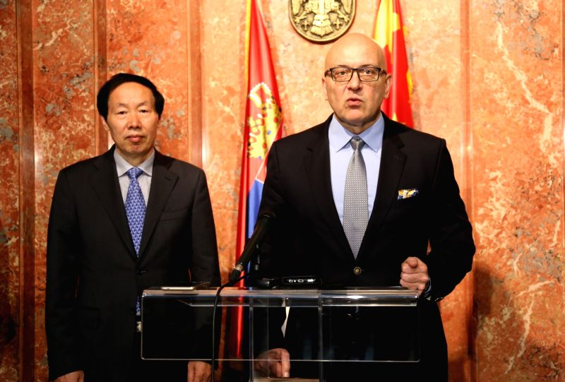 BELGRADE, May 23, 2017 - Liu Yuzhu (L), administrator of the State Administration of Cultural Heritage (SACH) of China, and Vladan Vukosavljevic, Serbian minister of culture and media, attend a joint ...