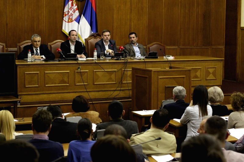 Belgrade, May 5, 2016 - Serbian Republic Electoral Commission (RIK) holds a session in order to adopt and announce the final results of the April 24 snap elections in Belgrade, Serbia on May 5. ... - Aleksandar Vucic