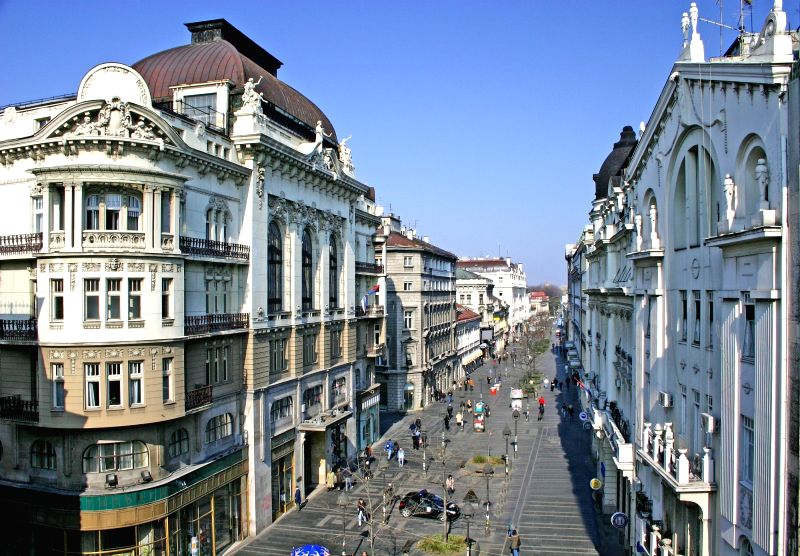 Belgrade's Knez mihajlova Street.