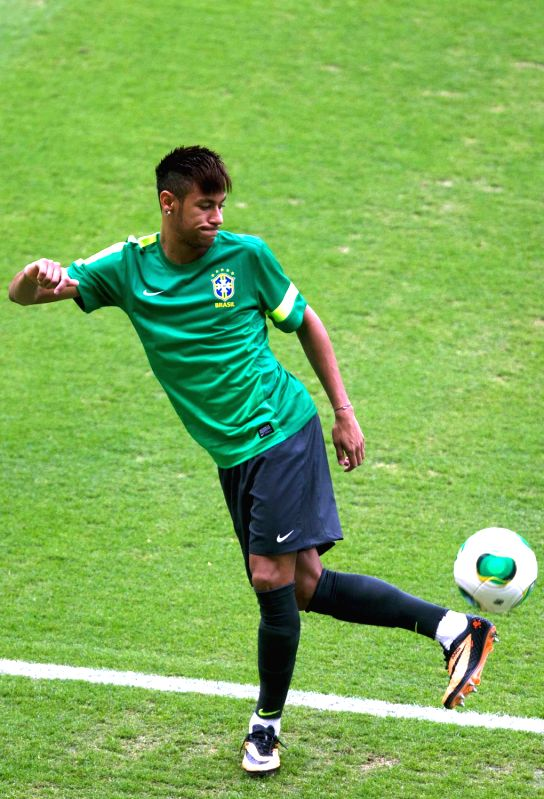 Brazil S Neymar Participates In A Training Session At